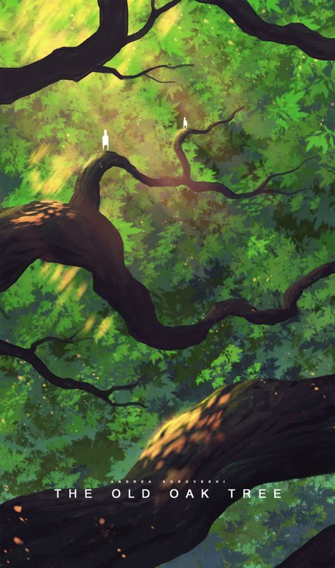 The old oak tree - 30 min Speedpaint, mouse (Andrea Koroveshi).