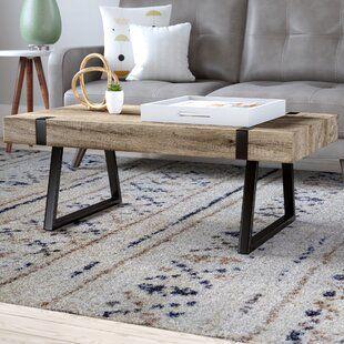 Greyleigh Telfair Sled Coffee Table With Storage In 2020 Cool Coffee Tables Coffee Table Coffee Table Design