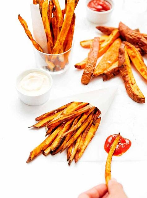 Photo of The BEST Air Fryer Sweet Potato Fries