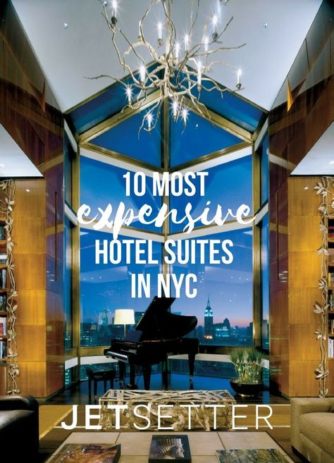 In a city with record-breaking real estate prices, lavish dinners that can cost more than a month's rent, and both American heritage brands and international hospitality giants vying for attention, you're bound to find luxe accommodations in spades. New York City's most ostentatious suites may be larger than the city's average apartments, outfitted with opulent décor and serviced by a coterie of white-gloved staff, but are they worth the eye-popping price tags? We'll let you decide.