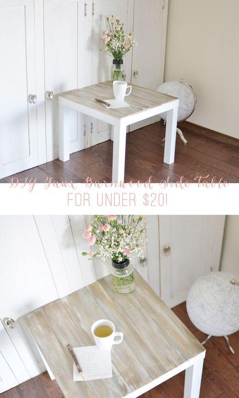 DIY Faux Barnwood Side Table » Lolly Jane