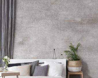 Bare Concrete Looking Wallpaper Mural Murals Wallpaper In 2020 Concrete Wallpaper Concrete Wall Wall Treatments