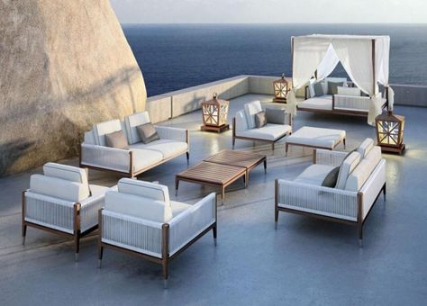 Furniture, Teak Wood Patio Furniture Italian Fabulous Teak Woody - brillantes mobeldesign von smania