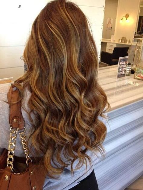 brown hair with caramel highlights
