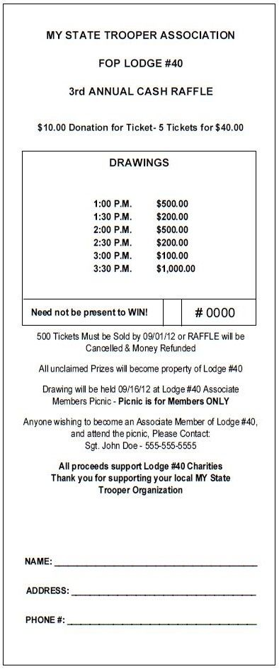 "TheRaffleTicketStore.com - ""Vertical Jumbo"" Raffle Ticket - Great fundraising idea! Cash raffle with multiple prize drawings during event."