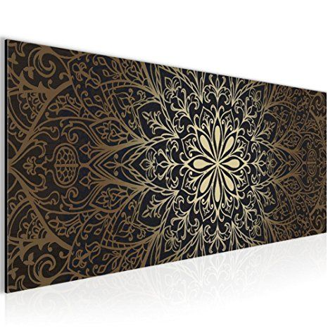 Bilder Mandala Abstrakt Wandbild 100 x 40 cm Vlies ...