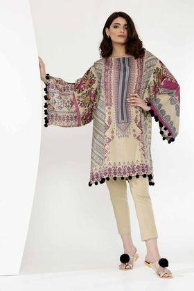 Khaadi 2 Piece Digital Printed Custom Stitched Lawn Suit - J18303 - Blue
