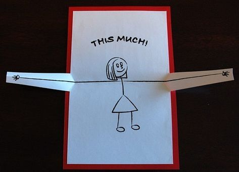 I Love You...This Much Pop-up Card / Valentine Card / Cute