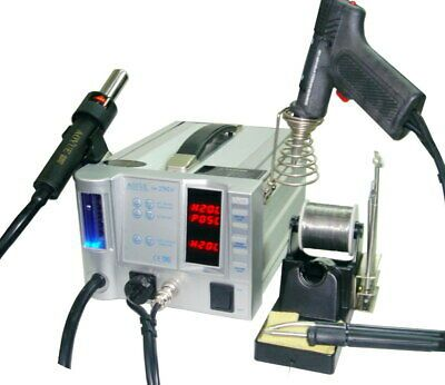 2 in 1 750W Digital Soldering Station Solder Welder SMD Rework w//Nozzles 8528D
