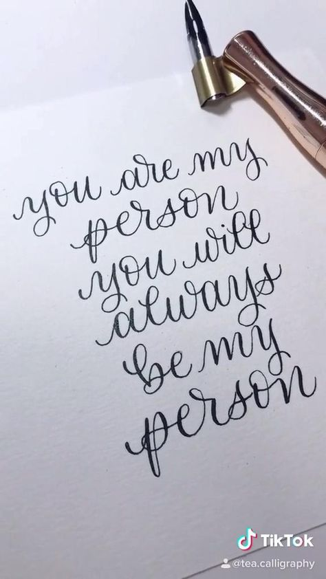 """""""You are my person, you will always be my person"""" quote from Greys Anatomy in calligraphy, get this or another custom quote from my Etsy!"""
