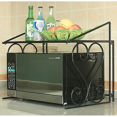 Details About 2 Tier Metal Multifunctional Microwave Oven Rack Household Kitchen Shelf Cabinet Kitchen Cabinet Shelves Oven Racks Kitchen Shelves