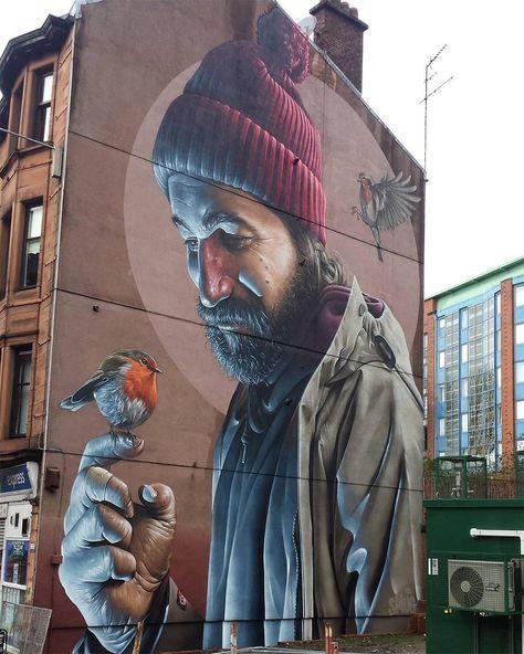 Nouvelle Peinture murale photoréaliste de Smug à Glasgow (1)