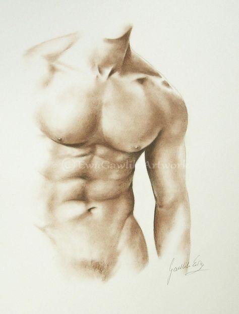 Male Nude Sketch Male Torso Order Male Drawing Replica of | Etsy