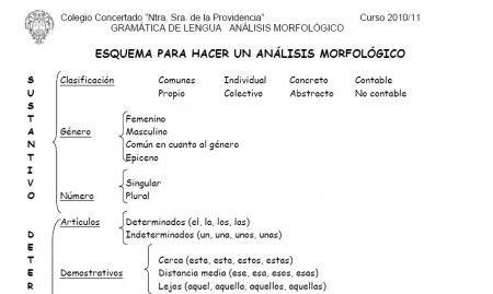 Esquema Analisis Morfologico Esquemas Recursos Educativos