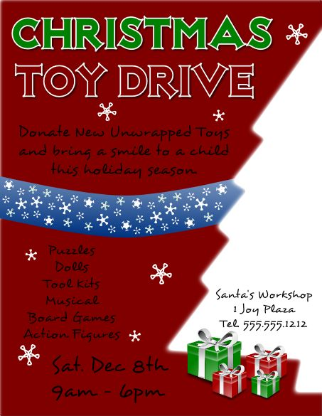 13 best Christmas Toy drive images on Pinterest | Toy, Flyers and ...