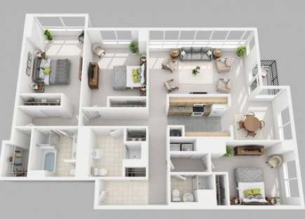 New Apartment Layout 3bedroom Color Schemes Ideas Apartment Layout House Plans 3d House Plans