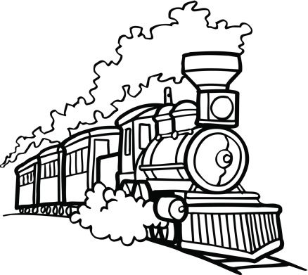 Old Choo Choo Train Vector Cartoon Clipart Design Illustration