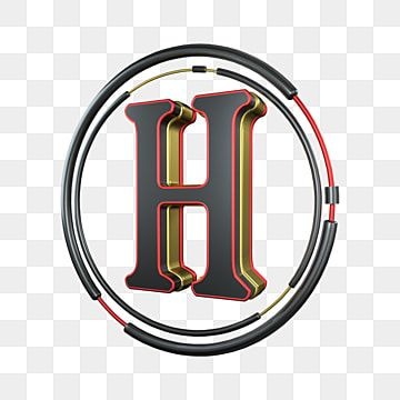 C4d Cool Black Red Gold Three Dimensional Letter H Decoration C4d 3d Cool Png Transparent Clipart Image And Psd File For Free Download Lettering Cool Clipart Tv Set Design