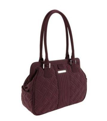 Vera Bradley Frame bag comes in Wine and Black - Shoe Bank ...
