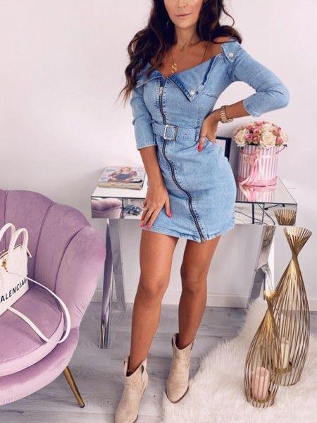 Sukienka Jeansowa Cosmo 29 Casual Dress Outfits Shirt Dress