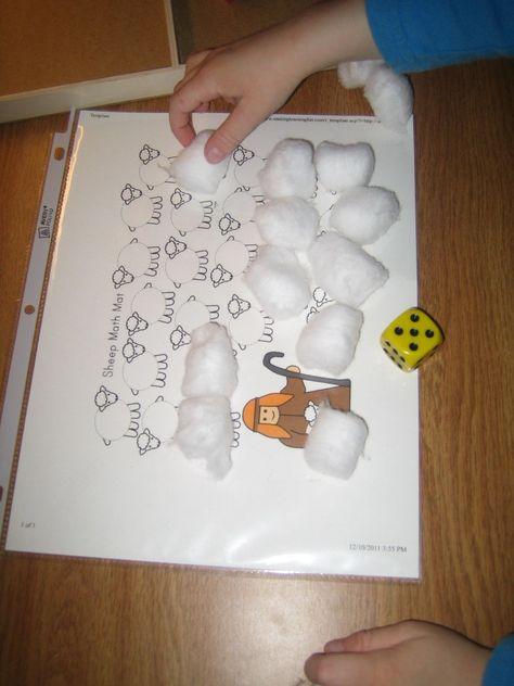 sheep craft & other preschool christmas
