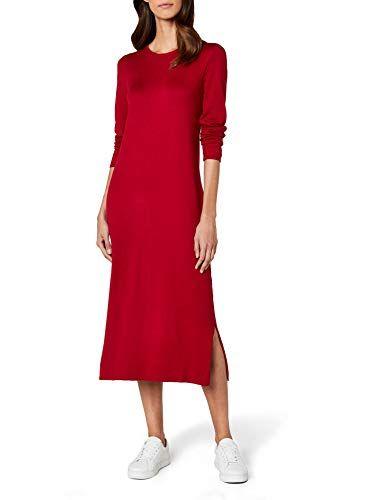 reputable site 1c5e0 da0eb edc by Esprit 087cc1e001 Vestito Donna Rosso (Dark Red 610 ...