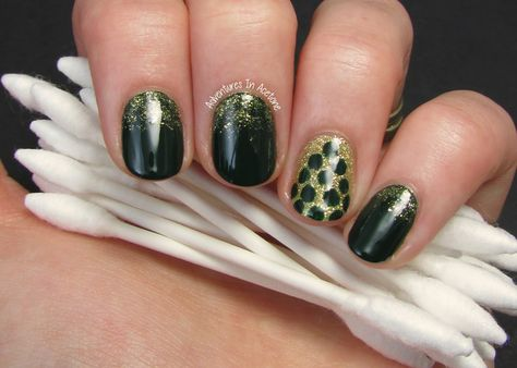 Holiday Glam Nails with Q-Tips Precision Tips!