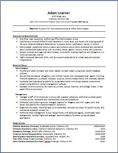 sample functional resume template sample functional cv 9
