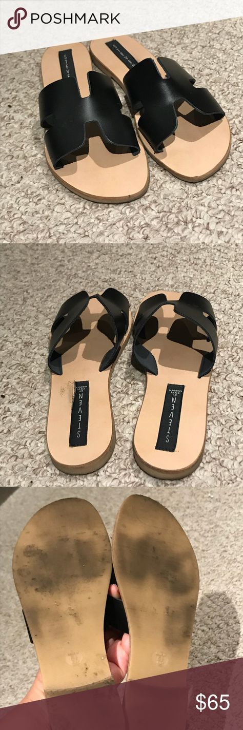 fbe684ee4e4 EUC Steven by Steve Madden gladiator sandals No scratches on leather. Wear  shoes on sole. Used a couple of times. Great dupe to the Hermès sandals.