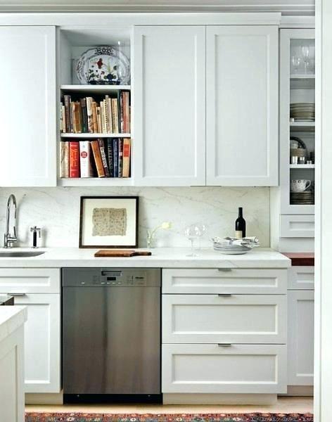Cabinet Tab Pulls Shaker Cabinet Tab Edge Pulls Contemporary Kitchen White Shaker Kitchen White Shaker Kitchen Cabinets