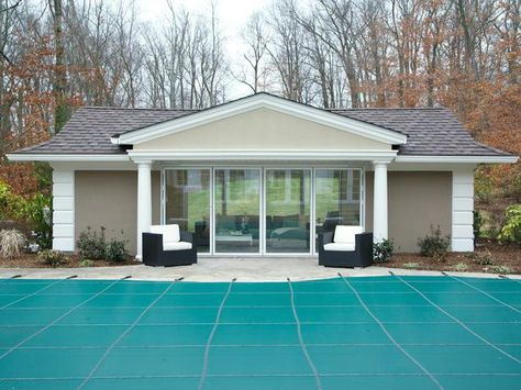 Pool House Makeover from Rev Run's Renovation
