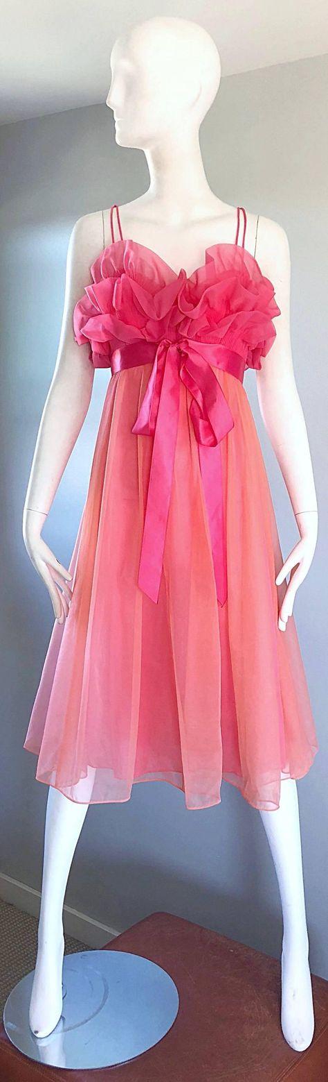 Night gown set Intime vintage light peachy pink orange