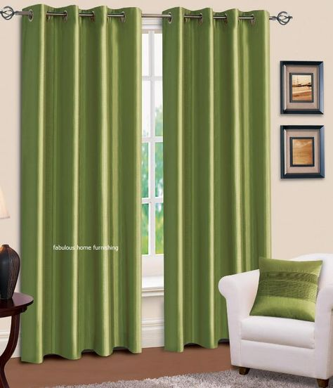 Green Kitchen Curtains Ring Top Eyelet Lined Curtains Plain Faux Silk Lime  Green Colour For The Home Pinterest Green Curtains Lime Green