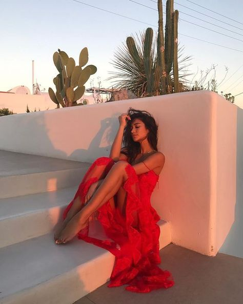 shay mitchell wearing red ruffle maxi dress summer vacation style photoshoot 16 Sizzling Hot Red Outfits To Slay In Old Skool Outfits, Maxi Dress Summer, Summer Dresses, Red Maxi Dresses, Dresses Short, Red Gowns, Dress Winter, Bridal Dresses, Formal Dresses