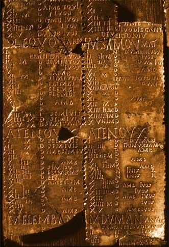 The Coligny calendar is a peg calendar made in Roman Gaul in ca. the 2nd century AD, giving a five-year cycle of a lunisolar calendar with intercalary months. It is the most important evidence for the reconstruction of an ancient Celtic calendar. It is written in Latin inscriptional capitals and is in the Gaulish language. The restored tablet contains sixteen vertical columns, with 62 months distributed over five years. The Celtic Coligny Calendar states that the Celts celebrated a feast…