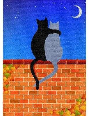 East Urban Home Cats On Brick Wall Cotton Blue Area Rug Wayfair In 2020 Dark Gray Area Rug Area Rugs Light Grey Area Rug