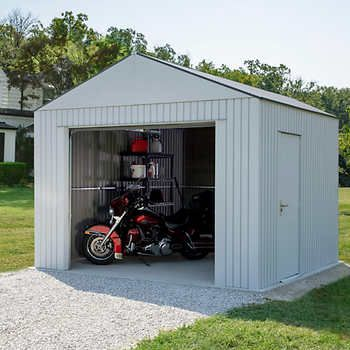 Arrow Aspen 12 X 10 Garage Wood Storage Sheds Wood Shed Shed Design
