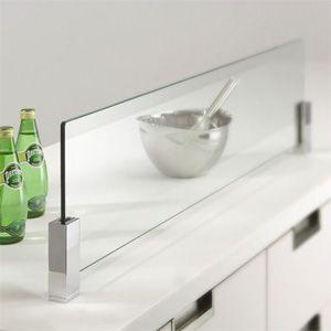 キッチン油はね 水はね ガードsp 高級タイプの油はね防止ガラス金物の販売 キッチン ディバイダー キッチンアイデア