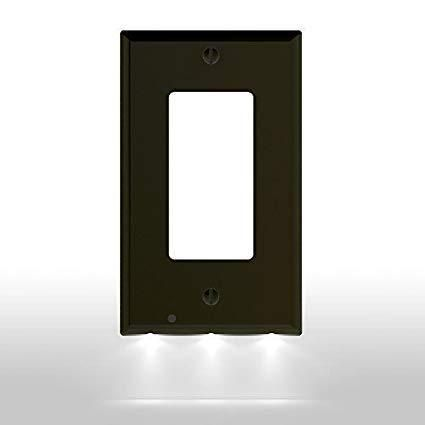 Lowest Price Outlet Wall Plate With Led Night Lights No Batteries Or Neltha With Images Led Night Light Night Light Cover Night Light