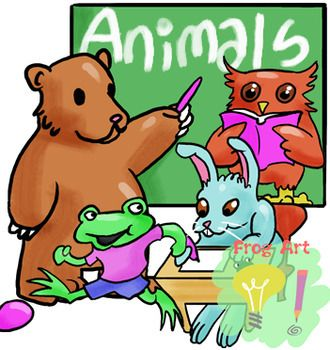Animals At School Lineart And Color Cliparts Animals Animal Cartoon Video Animal Quotes