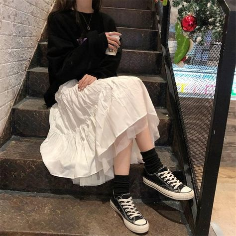 2 Layers Loose Skirts