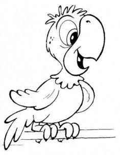 Papağan Boyama Sayfası Cocuklar Icin Dessin