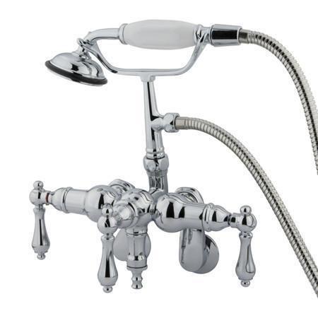 Kingston Brass Vintage Adjustable 3 3 8 Clawfoot Tub Faucet Wall Mount Tub Faucet Vintage Tub