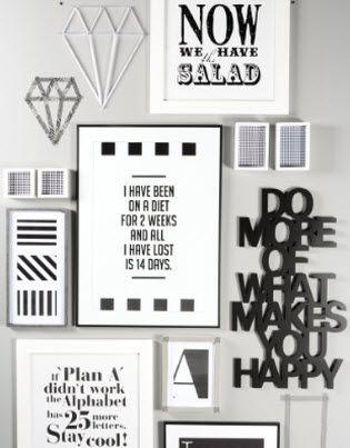 schwarz weiß Bilderwand - gleich nachmachen! #Bilderrahmen - finke küchen angebote