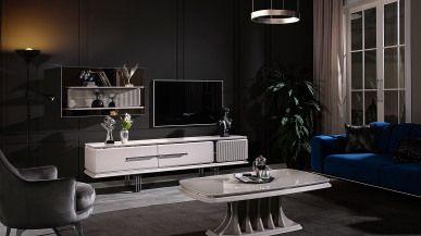 atlantik ahsap tv unitesi fume tv unitesi tv mobilya