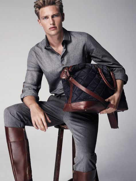 Model Victor Nylander at View Management, transcends in this stunning lookbook by Massimo Dutti Fall/Winter 2014-2015 Collection: Equestrian. Pictures taken by talented Hunter & Gatti.
