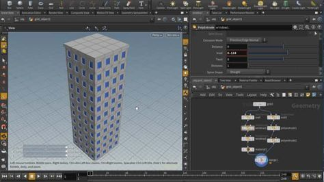 Houdini] Procedural building tutorial | Houdini in 2019 | Building
