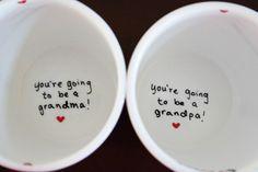 Pregnancy Announcement, New Grandparents Gift