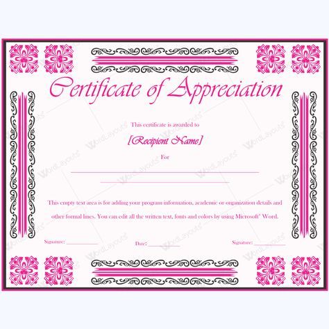 Certificate of Participation 02 Certificate, Teacher and Students - fresh fillable certificate of appreciation