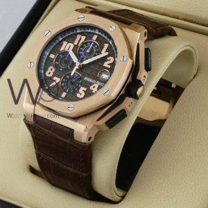 ساعة Audemars Piguet تعمل بعدادات بلون رصاصى وسيرفضى من المعدن Watches Prime Rolex Watches Rolex Accessories